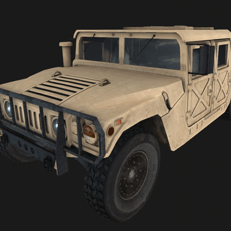 A link to the Humvee section of the portfolio